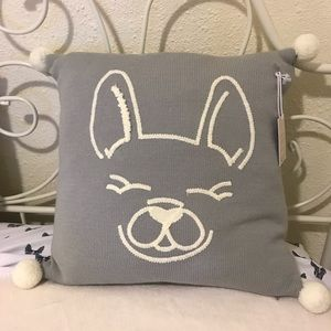 Lauren Conrad French Bulldog Feather Decor Pillow